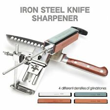 Kitchen Tools Sharpener Iron Steel Professional Knife Fix-angle With 4 Stones