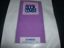 1 NEW Jumbo Purple Book Cover Stretchable Fabric Sox sock School College Student