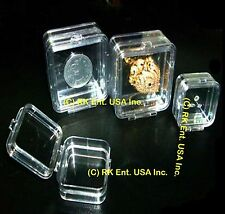 Hinged Display Boxes Elastic Membrane Various Sizes for Optics, Fragile Items