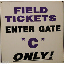 """GIANTS STADIUM MEADOWLANDS FIELD TICKETS ENTER GATE C GAME USED 50"""" SIGN NY JETS"""