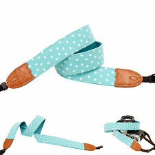 Dark cyan stars print Fashion Camera Neck Shoulder Strap Film SLR DSLR RF Cute