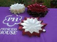 Princess House Holiday Poinsettia Dinnerware Set. New In Box #4606 and # 828