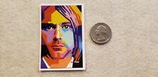Kurt Cobain Artistic Multi-Color Face Square Sticker Decal
