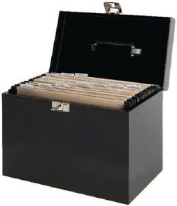 Pierre Henry File Box A4 Metal 36.5 x 22 x 28.5 cm Choice Of Black Or Silver