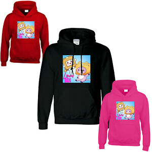 Lankybox Hoodie Foxy Boxy Youtuber Merch Gaming Kids Boys Girls Hoody JumperGift