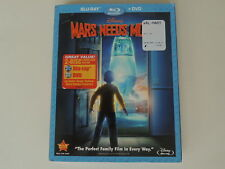 DISNEY SEALED MARS NEEDS MOMS BLU-RAY DVD COMBO WITH SLIP COVER