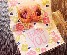 20 Piezas Cookies Adhesivo de embalaje bolsas de plástico para Hornear Boda Snack Pack B003