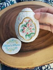 347 The Lily Blossom Egg With Pedestal by Lenox 1990