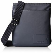 New Authentic Lacoste Men's Classic Black Iris Crossover Shoulder Bag