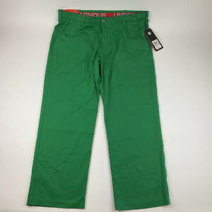 Under Armour Men's Sz. 40x30 Loose Fit Green Golf Pants