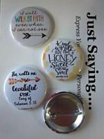 CHRISTIAN THEME 3-pk Novelty Buttons/Pins: Kind words are like honey....