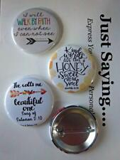 Christian Theme 3-pk Novelty Buttons/Pins: Kind words are like honey.
