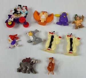 10 90s McDonalds Collectable Toys Bulk Figures Aladin Bambi Gummi Bears Grimace