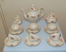 Beautiful Sebring Porcellana Demitasse Tea Set With Pretty Roses