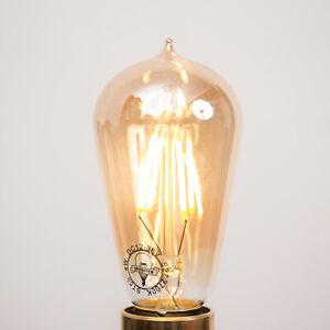 12V LED Filament Bulb ST58 4W E27 | Vintage Edison Light Globe 12 Volt Lamp