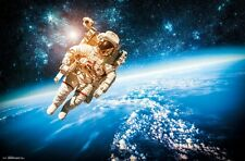 SPACE WALK POSTER 22x34 - ASTRONAUT STARS 15559