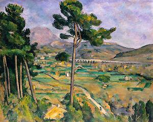 Paul Cézanne, Mont Sainte-Victoire & Viaduct of Arc River Valley, Canvas Print
