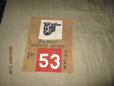 WWII 2ND POLISH AMOURED BRIGADE 1 ST UHLAN  TANK /TRUCK COMMAND  PENNET FLAG