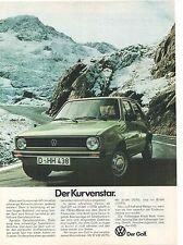 Historische Reklame - vintage adverts -  VW GOLF I -  Konvolut   alte - Annoncen