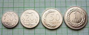 POLAND 2019 4 COINS SET, MAGNETIC, UNCOMMON DATE, UNC
