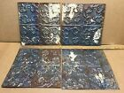 4pc Lot of 11.5' x 11.5' Antique Ceiling Tin Vintage Reclaimed Salvage Art Craft