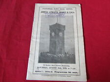 STOCKSBRIDGE  Works Annual ATHLETIC  Sports & Gala  Programme  26/08/39  1930's