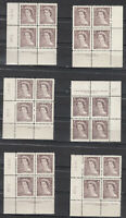 Canada MINT NH Selection of Scott#325 Plate Blocks study