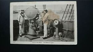 'Life In The Navy' - The Search Light - The Nelson Series 1907 Postcard