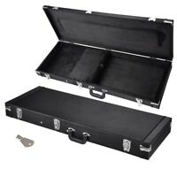 "Portable Electric Bass Guitar Square Carrying Case 41"" Lockable Wooden"