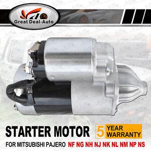 Starter Motor for Mitsubishi Pajero NF NG NH NJ NK NL NM NP NS V6 Manual 88-08