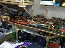 Huge Mixed Lot Ho Scale Train Cars,Engines,Track,Buildi ngs&More