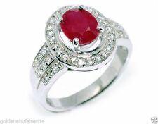 Ovale Echtschmuck mit Rubin Ringe für Damen