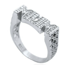 STERLING SILVER CZ MUM RING MOTHER MUMMY CUBIC ZIRCONIA LARGE SIZES GIFT BOX 925