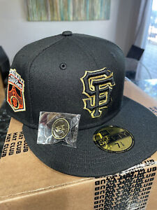 HAT CLUB🔥New Era 59FIFTY San Francisco Giants 2010 WS GOLD UV 7 3/8 Cooperstown