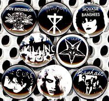 Death Rock x 8 NEW pins button badge Christian Killing Joke Joy Division Bauhaus