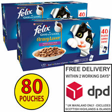 Felix As Good As It Looks AGAIL Gravy Lover Selection 2x (40x100g) = 80 Pouches!