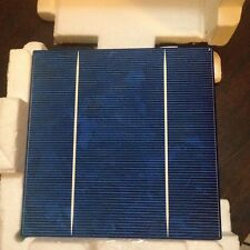 50pcs Solar Cell 6x6 with 2 Busbar,16% Efficiency 3.9W ,Blue Color,A Grade