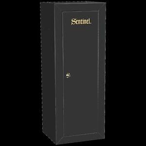 Firearm Storage Cabinet Safe Locker 18 Gun Security Rifle Shotgun Rack Steel Key