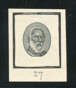 TONGA 1892 KING GEORGE I DIE PROOF KING'S HEAD NEW ZEALAND No.27