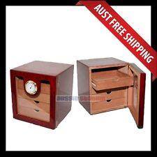 Seddon Cigar Humidor, 100+ Wooden Cedar Humidor, 4 Drawers Cabinet w Humidifier