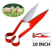 "10"" Sheep Shearing Hand Shear Scissors Steel Black Handle Cutters Animal Clipper"