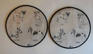 Magnetic Aga covers. Set of 2 with loops or magnets. Linen dogs.