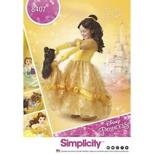SEWING PATTERN! SEW BELLE COSTUME! GIRL~ DOLL! FITS AMERICAN GIRL! BEAUTY~BEAST!