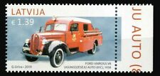 2019 Latvia, fire engine, stamp, MNH