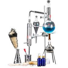 Lab 500ml Essential Oil Distillation Apparatus Water Purifier Glassware Kits