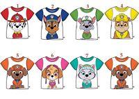Boys Girls Kids Children Paw Patrol T-Shirt Tshirt Top 100% Cotton age 2-7 years