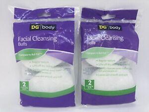 2 Packs DG Body Facial Cleansing Buffs ~ Total of 4 Buffs