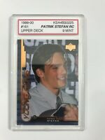 1999-00 UPPER DECK #161 PATRIK STEFAN ROOKIE CARD | KSA 9 MINT
