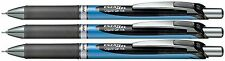 3 X Pentel EnerGel RTX Retractable Gel Pen 0.5mm BLACK INK NEEDLE TIP