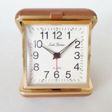 Vintage Seth Thomas Travel Alarm Clock Non Working Parts As Is Made in Brazil